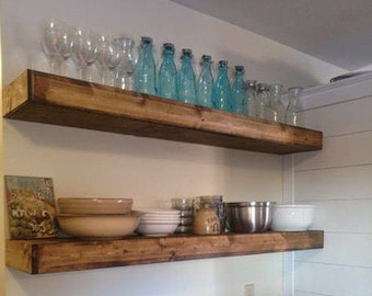 FREE SHIPPING Wood Floating Shelves 10 Inch Deep