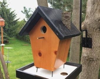 Rustic Birdhouse | Bird Feeder | Birdhouse Feeder | Rustic Bird house | Birdhouse