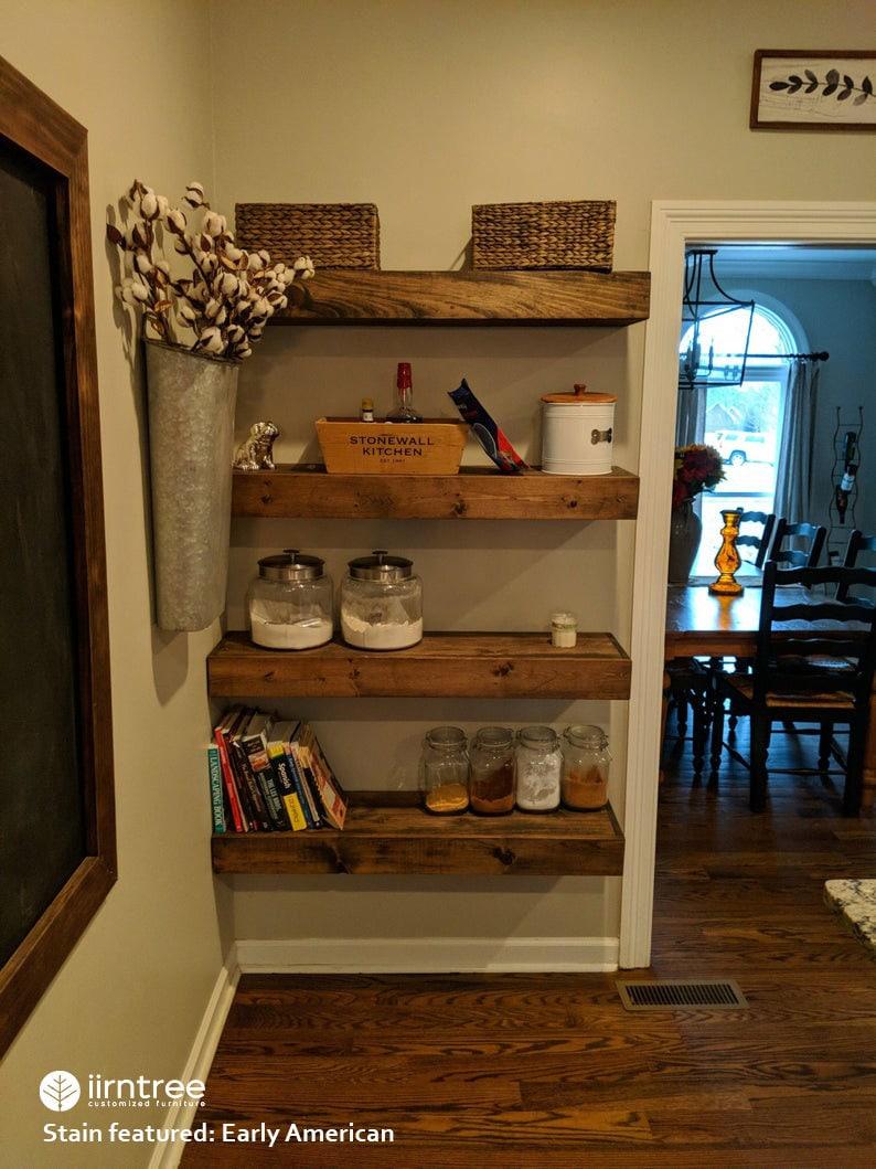 Wood Floating Shelves 16-inches Deep  Rustic Shelf  image 0