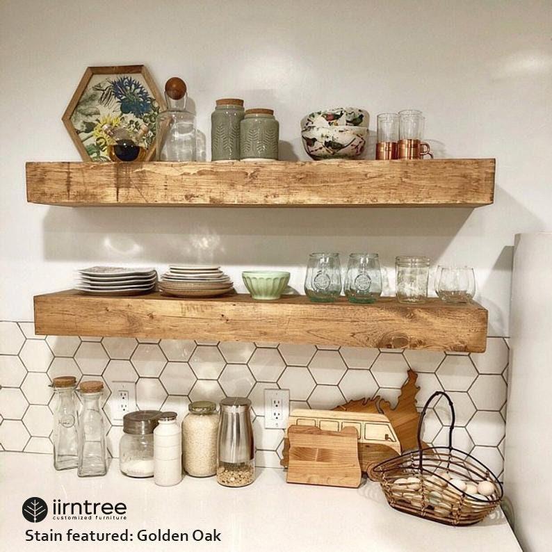 Wood Floating Shelves 10-inches Deep  Rustic Shelf  image 0
