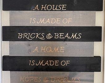 Verona Home Décor | Engraved Art Decor | Wall Art | Rustic Wood Art | Wall Hanging Sign |  Farmhouse Sign | Inspirational Family Sign |
