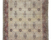 Home Decor Oushak Style Handwoven Wool Rug, Oriental Design Living Room Rug, Distressed Boho Rustic Decor Persian Style Floor Rug 6.7 4.6ft