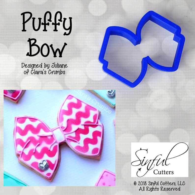 Puffy Bow Cookie / Fondant Cutter image 0
