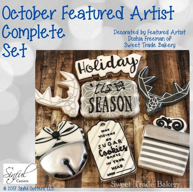 October Featured Artist Complete Cookie / Fondant Cutter Set image 0