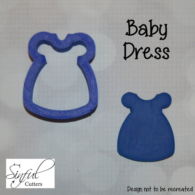 Baby Dress Cookie / Fondant Cutter image 0