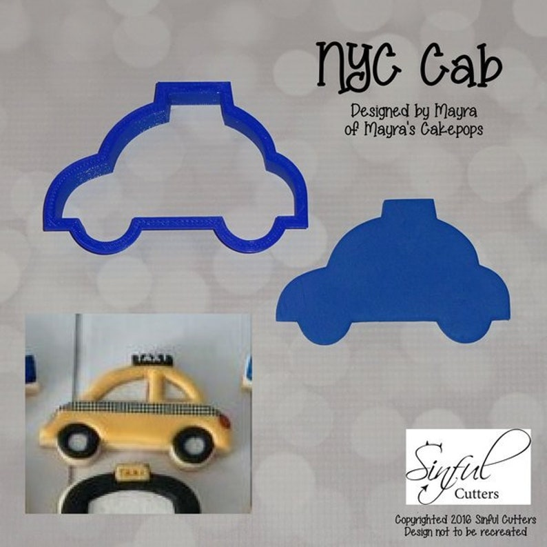 NYC Cab Cookie and Fondant Cutter image 0