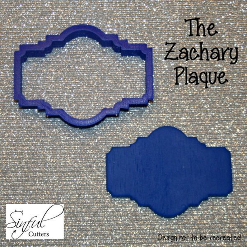 Zachary Plaque Cookie / Fondant Cutter image 0