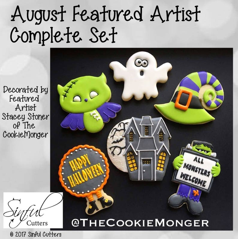 August's Featured Artist Complete Set of Cookie / Fondant image 0