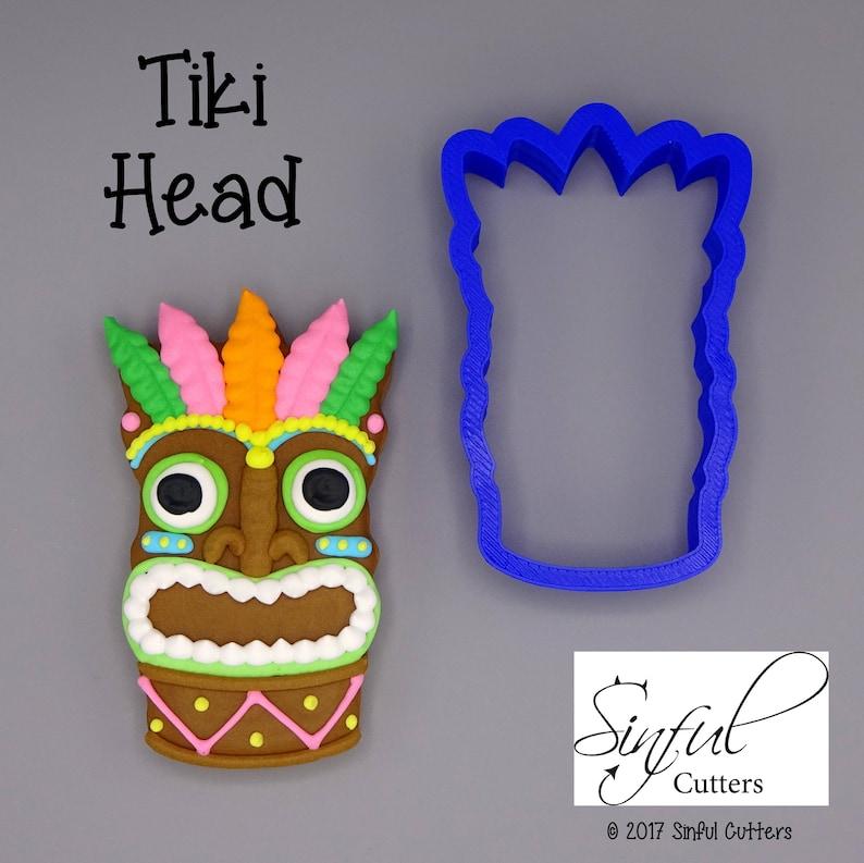Tiki Head Cookie / Fondant Cutter image 0