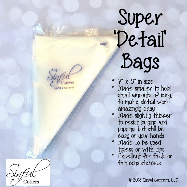 Super 'Detail' Bags  100 Count Tipless Piping / image 0