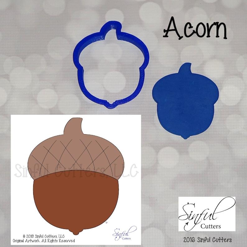 Acorn Cookie  / Fondant Cutter image 0