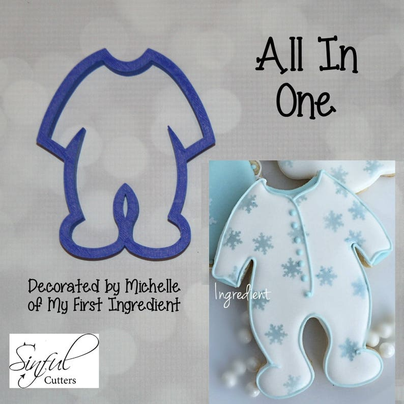 All In One / Baby PJs / Sleeper / Footie Cookie and Fondant image 0