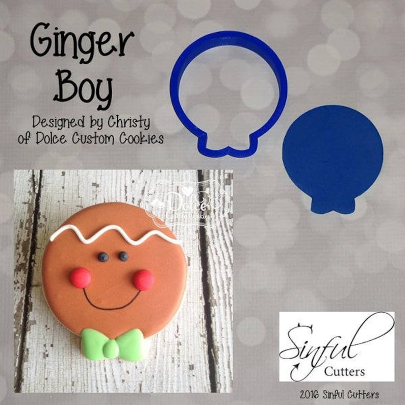 Ginger Boy Cookie and Fondant Cutter image 0