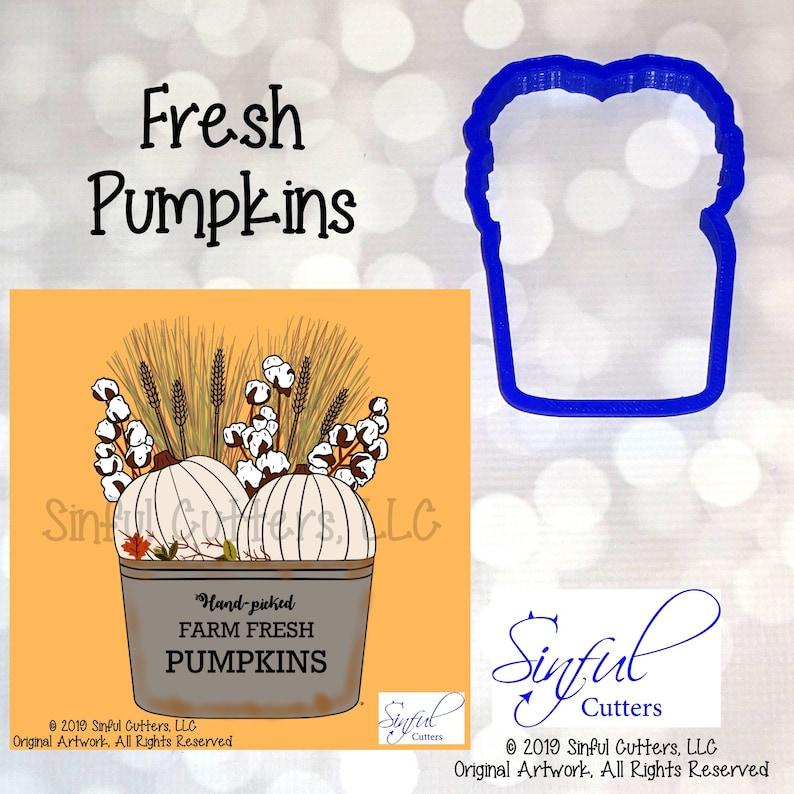 Fresh Pumpkins Planter Cookie / Fondant Cutter image 0
