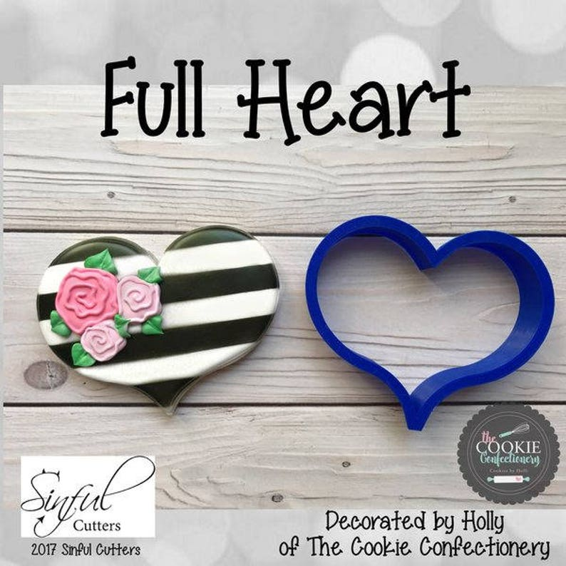 Full Heart Cookie and Fondant Cutter image 0