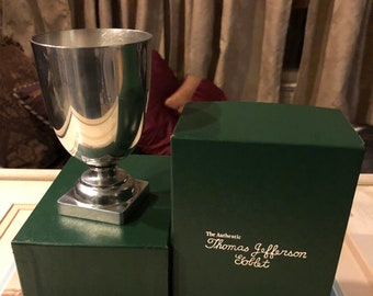 Lovely Boxed Kirk Stieff Thomas Jefferson Goblet
