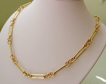 Genuine SOLID 9ct YELLOW GOLD Albert Chain Vintage style Onyx Pendant