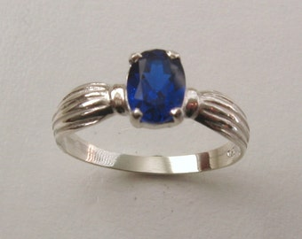 Genuine SOLID 925 Sterling Silver Sapphire Dress Ring