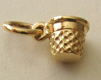 Genuine SOLID 9K 9ct YELLOW GOLD Sewing Thimble charm/pendant