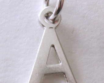 Genuine SOLID 925 STERLING SILVER 3D Initial A Letter Pendant