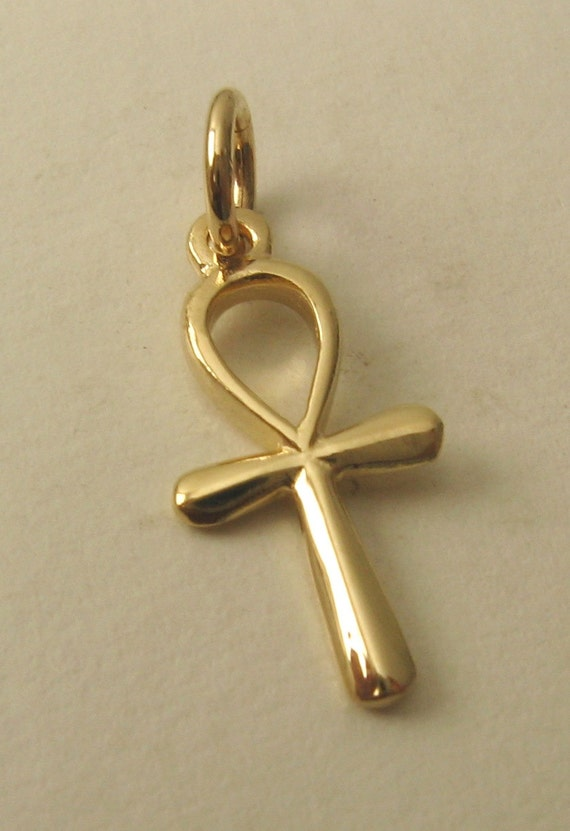 genuine solid 9k 9ct yellow gold 3d egyptian ankh key of life etsy