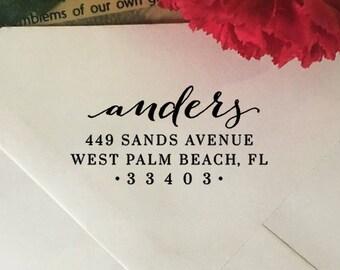 Return Address Stamp, Custom Address Stamp, Self-Inking Stamp, Wedding Stamp, Wood Stamp, Rubber Stamp, Personalized Family Last Name Stamp