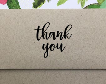 Thank You Stamp, Packaging Stamp, Thank You Stamp for Etsy Sellers, Shop Owners Stamp, Modern Thank You Stamp, Wooden Stamp, Rubber Stamp