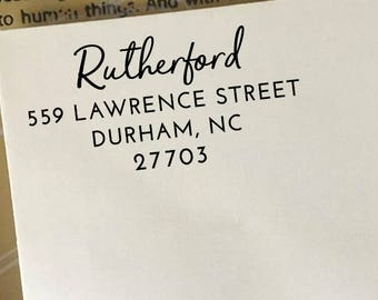 Address Stamp, Return Address Stamp, Self Inking Address Stamp, Custom Wooden Stamp, Personalized Address Stamp, Family Name Address Stamp