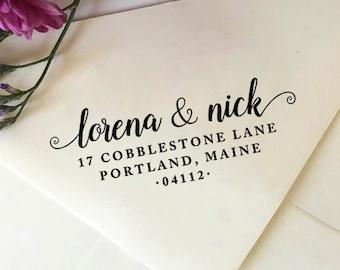 Return Address Stamp, Custom Address Stamp, Self-Inking Stamp, Wooden Stamp, Rubber Stamp, Custom Stamp for Wedding Invitations