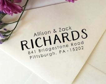 Address Stamp, Return Address Stamp, Self-Inking Stamp, Custom Wooden Stamp, Rubber Stamp, Wedding Stamp, First Name Last Name Address Stamp