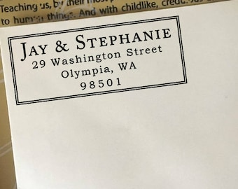 Return Address Stamp, Custom Address Stamp, Return Address Stamp Self Ink, Wooden Stamp, Personalized Address Stamp, Wedding Address Stamp