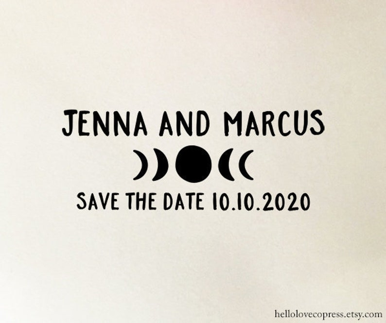 Personalized Save The Date Stamp Custom Wedding Wooden Or Self Inking St