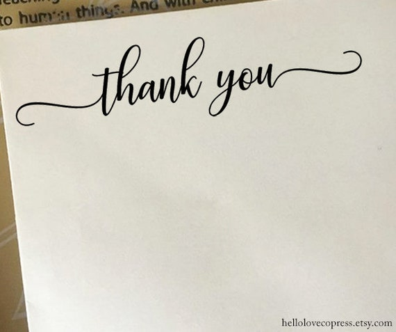 Thank You Stamp Packaging Wedding Etsy Shop