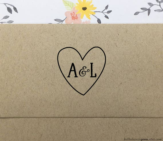 Wedding Rubber Stamping.Heart With Initials Stamp Personalized Wedding Stamp Custom Wedding Favors Stamp Wooden Stamp Eco Friendly Rubber Stamp Engagement Gift