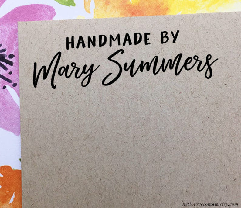"♥ Stempel individuell /""Handmade/"" mit Firmennamen ♥"