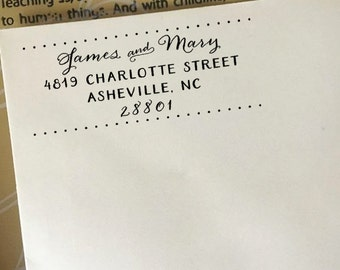 Return Address Stamp, Custom Address Stamp, Wedding Address Stamp, Self-Inking Stamp, Wooden Stamp, Eco Rubber Stamp, Calligraphy Stamp