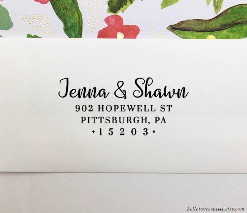 Wedding Address Stamp Wooden Rubber Stamp Custom Return Address Stamp Self Inking Stamp Personalized Address Stamp Housewarming Gift