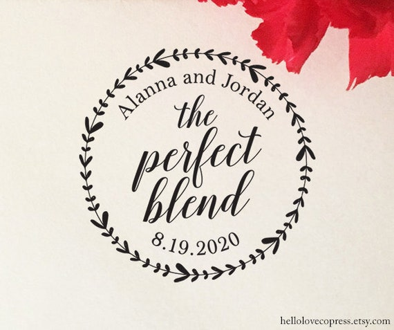 The Perfect Blend Stamp Wedding Favor Coffee Tea
