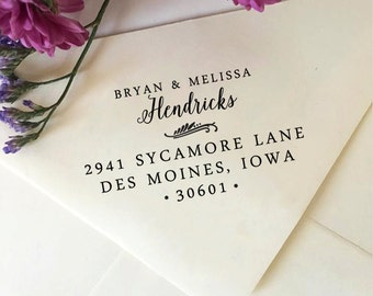 Return Address Stamp, Custom Address Stamp, Self-Inking Stamp, Return Address Stamp Self Ink, Personalized Wedding Stamp, Housewarming Gift