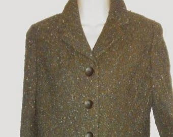 Cropped Wool Vintage Blazer by David Henry of Dublin