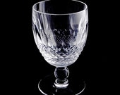 Authentic Waterford Colleen Short Stem Pattern Water Goblet 5 1 4 Inches Tall Hand Cut Crystal Retired Pattern