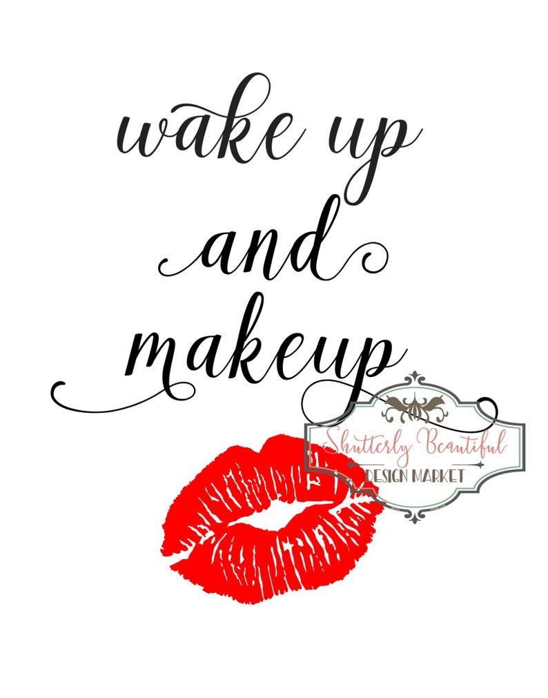 graphic regarding Lip Printable identify Wake Up Make-up Lips Printable - Make-up Printable - Lips Printable 11x14