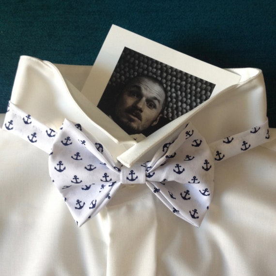Bow Tie, Wedding Bow Tie, Sailor Style with Anchors!