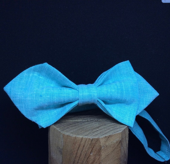 Bow Tie, Chambray - Blue, turquoise