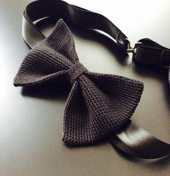 kitted Bowtie, Black, 100% Silk