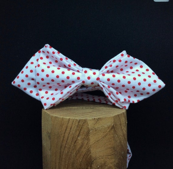 bow tie, 50sstyle, polkadots red-white, slim