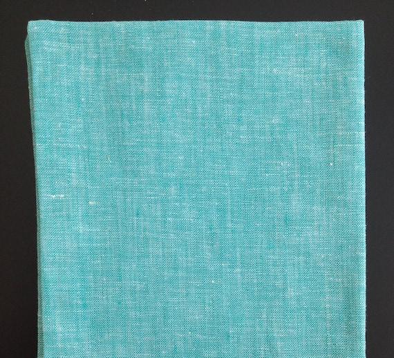 Pocket Square, S, cotton, coral-white with crochet border