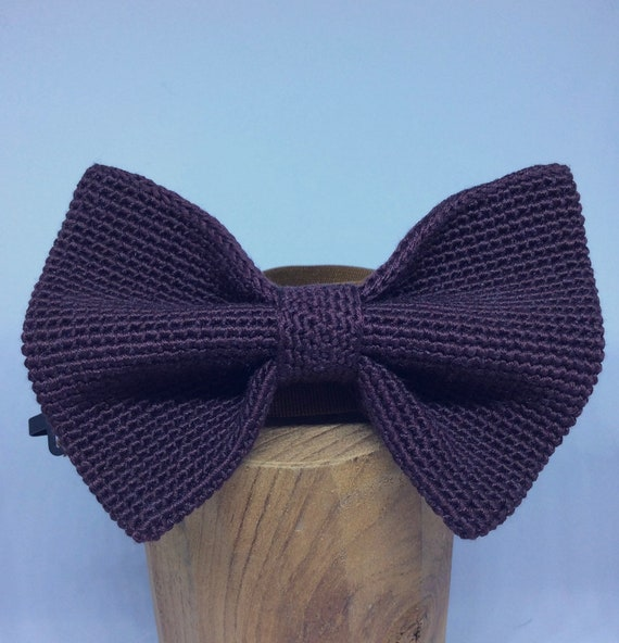 Knitted Bowtie in Bordeaux! 100% Silk