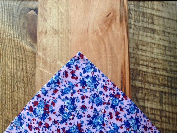Pocket handkerchief with blue-pink Liberty-Millefleur print