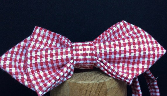 Bowtie for the Oktoberfest! Vichy check, red-white